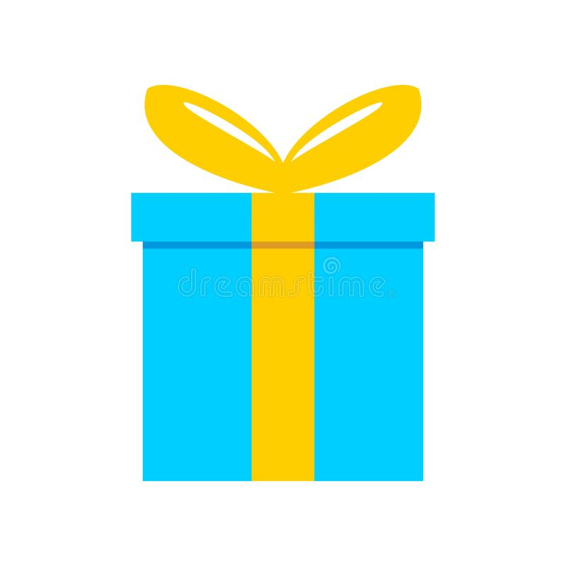 Blue Gift Box Vector Illustration Stock Vector Illustration Of