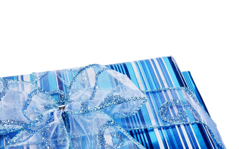 Download Blue Gift Boxes And A Bow Royalty Free Stock Image - Image: 12058446