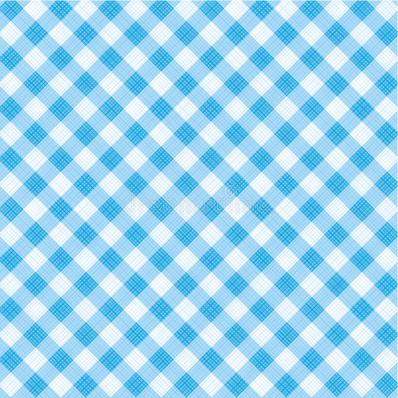 Free Blue Gingham Fabric, Seamless Pattern Included Stock Photo - 24576980