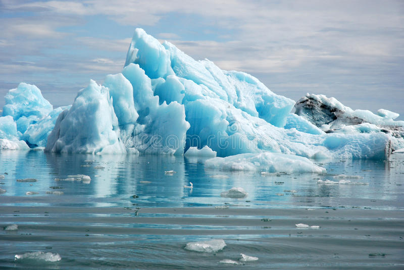 Blue glacier ice-Jokulsarlon lagoon-Iceland stock photos