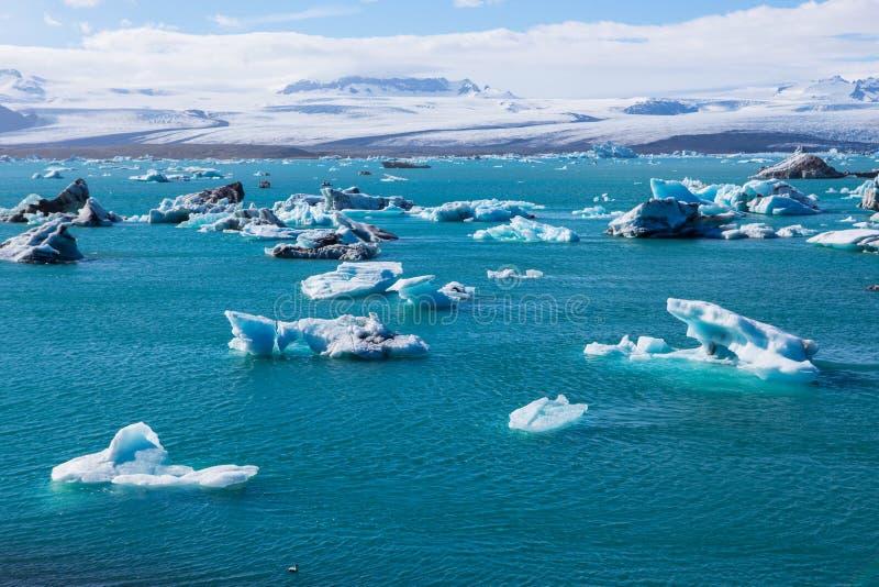 Blue glacier ice-Jokulsarlon lagoon-Iceland stock photos