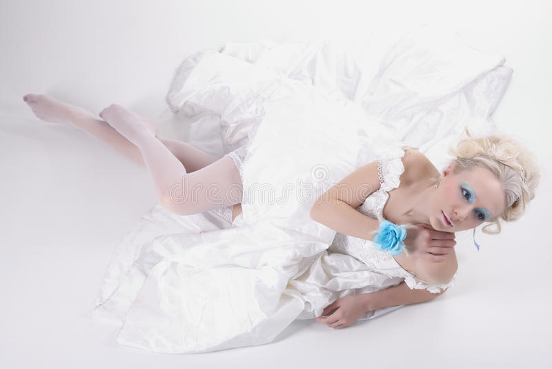 Download Blue  glance stock photo. Image of studio, adult, seductive - 18896616