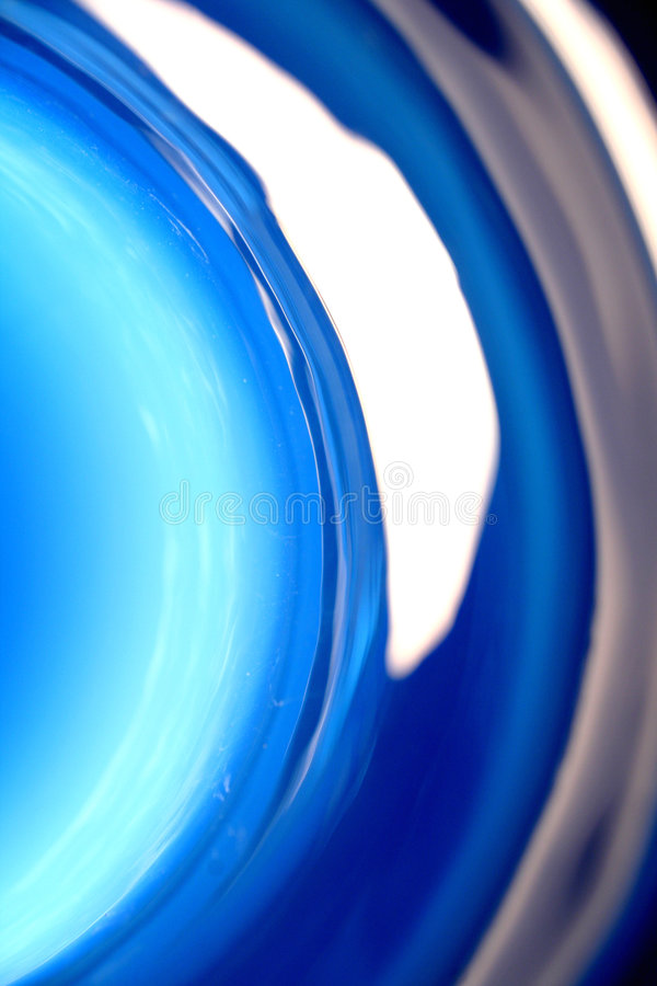 Blue glass abstract stock image