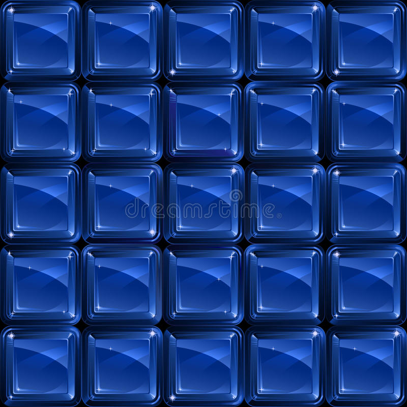 Free Blue Glass Blocks - Seamless Pattern Royalty Free Stock Images - 10302039