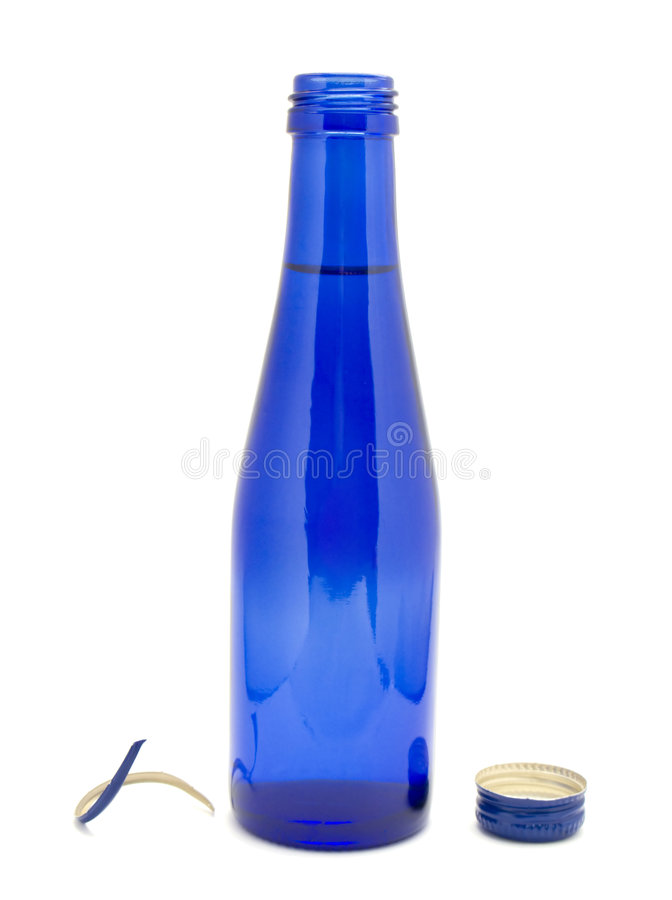 Free Blue Glass Bottle Royalty Free Stock Photos - 8337478