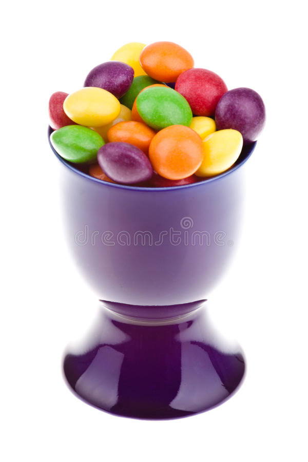 Download Blue glass with candies stock image. Image of chalice - 24053637