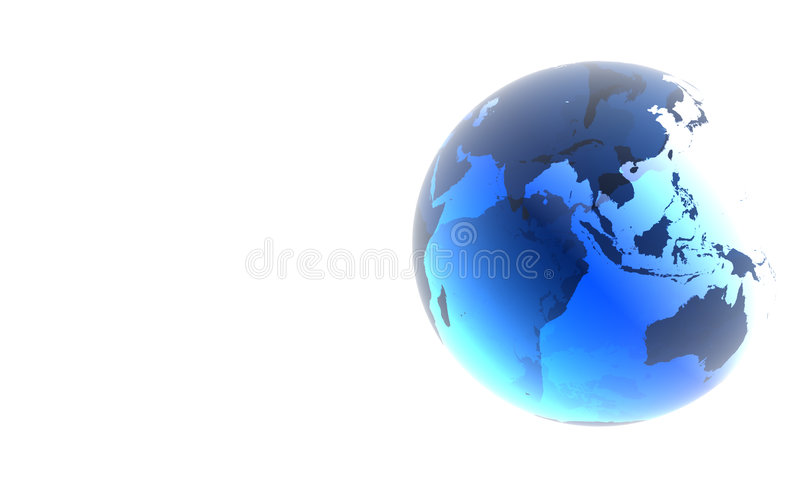 Blue glass earth royalty free illustration