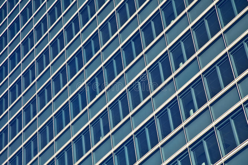 Blue glass high rise building skyscrapers royalty free stock image