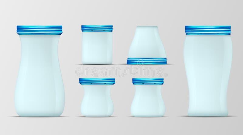 Blue glass jar with screw cap.  vector illustration