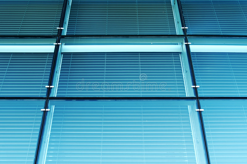Blue glass wall. royalty free stock photography