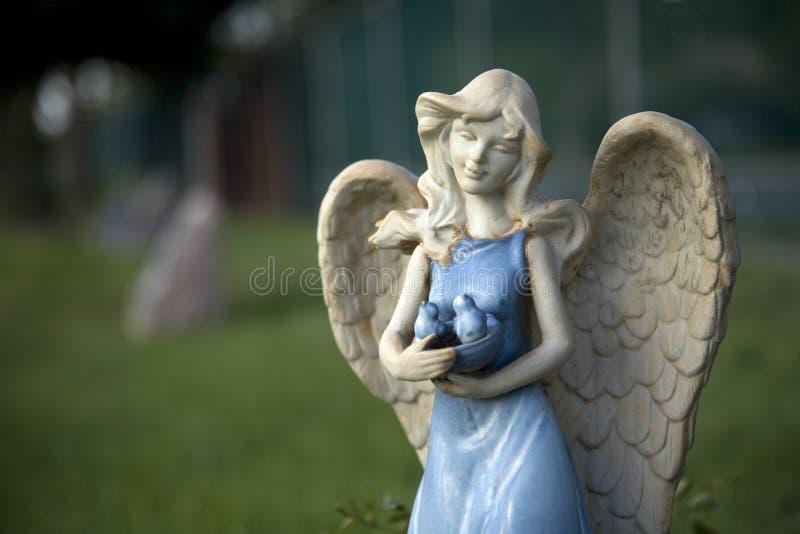 Blue Glazed Angel 2 royalty free stock images