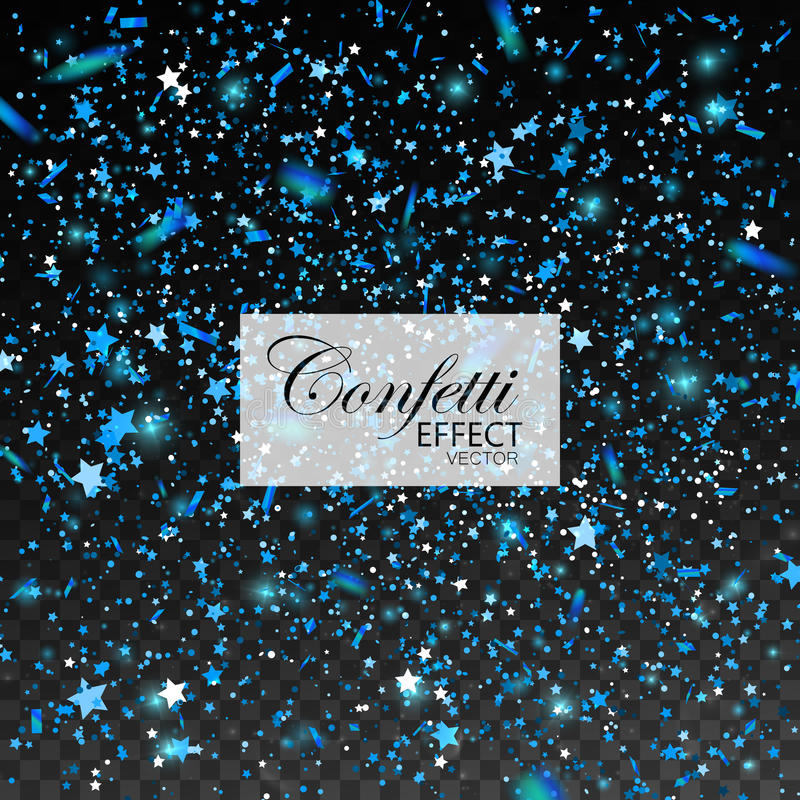 Blue glittering star dust vector illustration