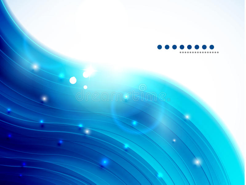 Blue glittering wave background royalty free illustration