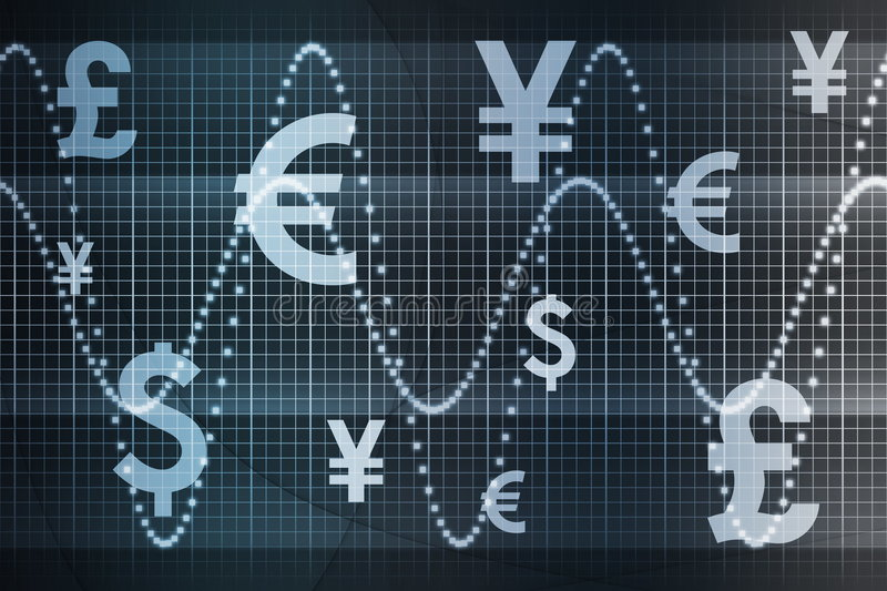 Blue Global Currency Business Abstract Background vector illustration