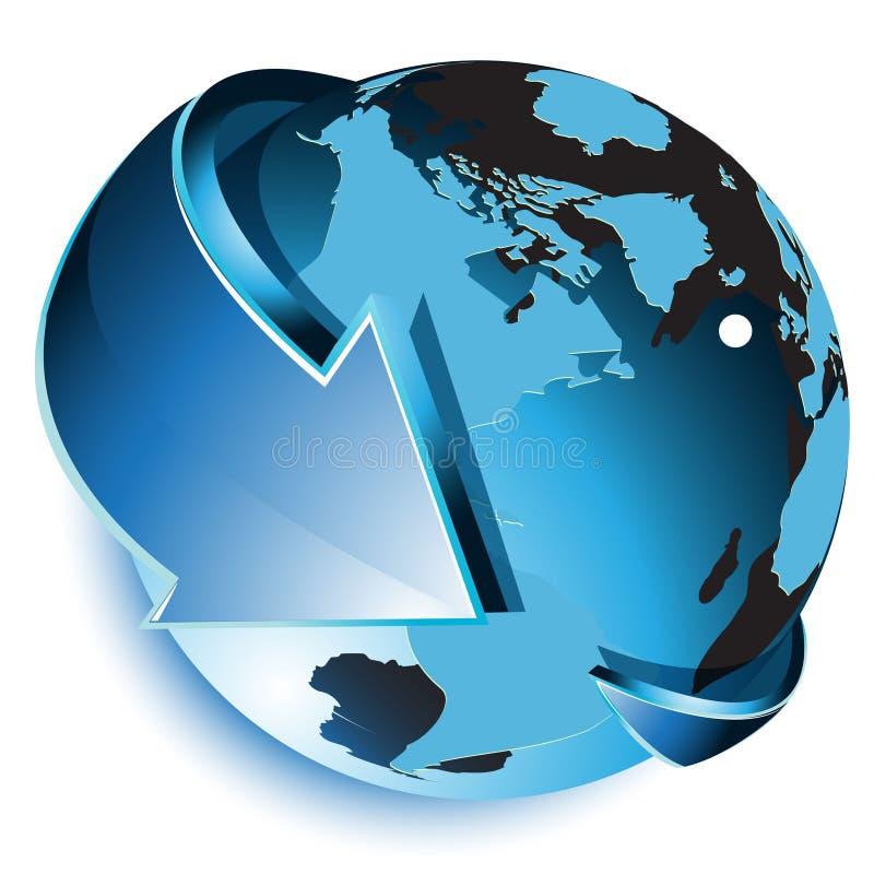 Free Blue Globe Royalty Free Stock Photos - 18056028