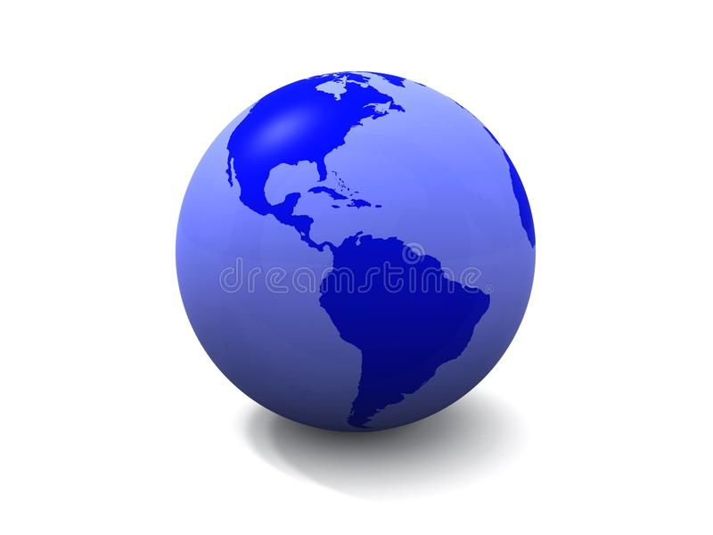 The Blue Globe Stock Images