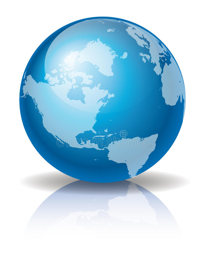 Free Blue Globe 3 Royalty Free Stock Image - 12662086