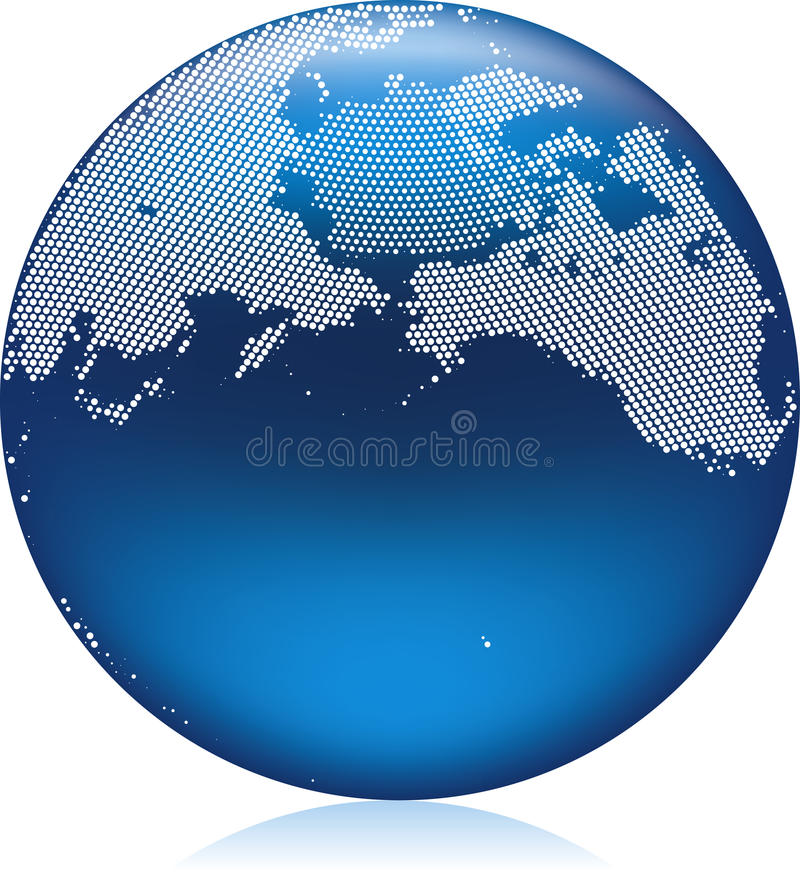 Download Blue Globe stock vector. Image of design, symbol, blue - 9612163