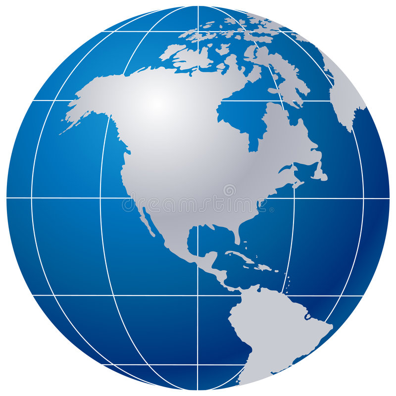 Free Blue Globe On White Royalty Free Stock Photography - 5314757