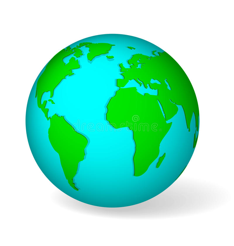 Free Blue Globe Vector Stock Images - 40562214