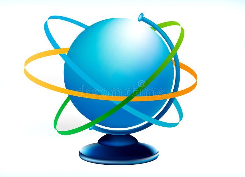 Blue globus stock photo