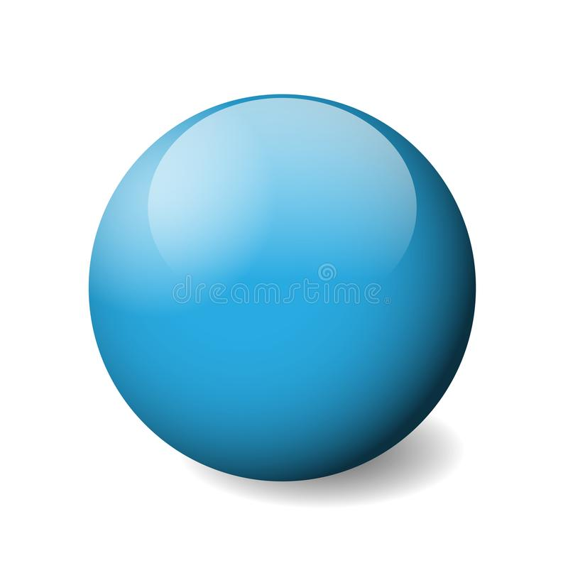 blue glossy sphere ball or orb 3d vector object with dropped rh dreamstime com intersection vecteur sphere vector sphere rc drone