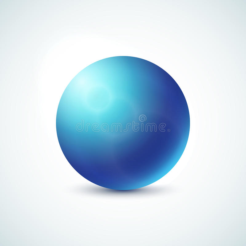 Free Blue Glossy Sphere Isolated On White Stock Photo - 40020820