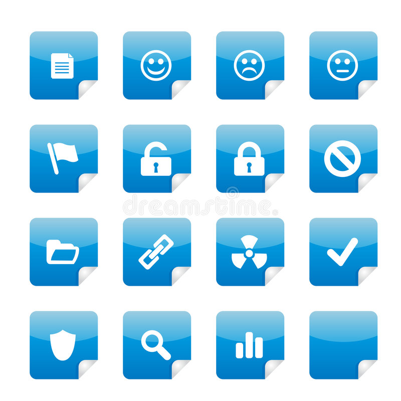 Free Blue Glossy Stickers Part 2 Stock Image - 4780611