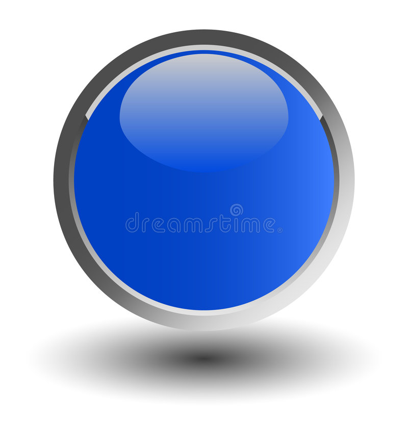 Blue glossy web button vector illustration