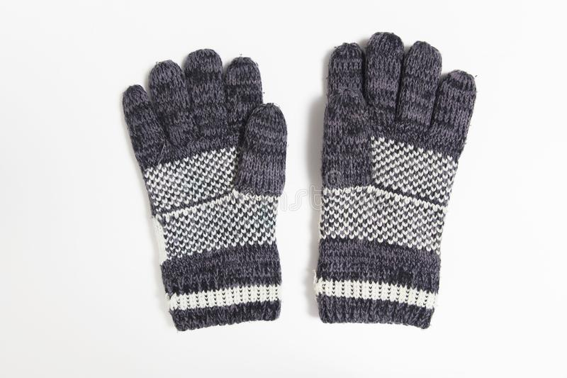Blue glove of winter stock image