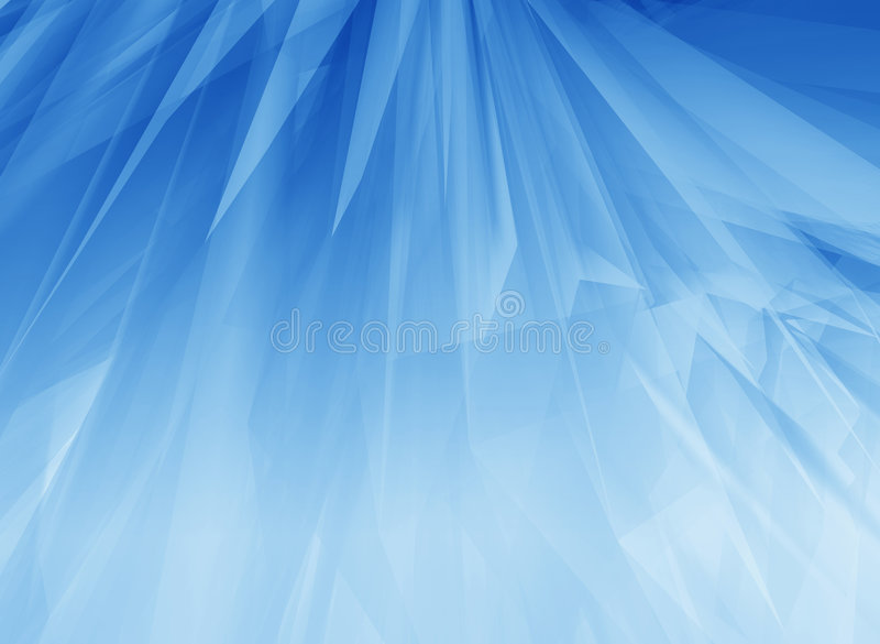 Blue glow feathers stock illustration