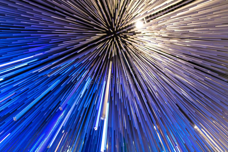 Blue glowing glass lines as abstract background stock photo