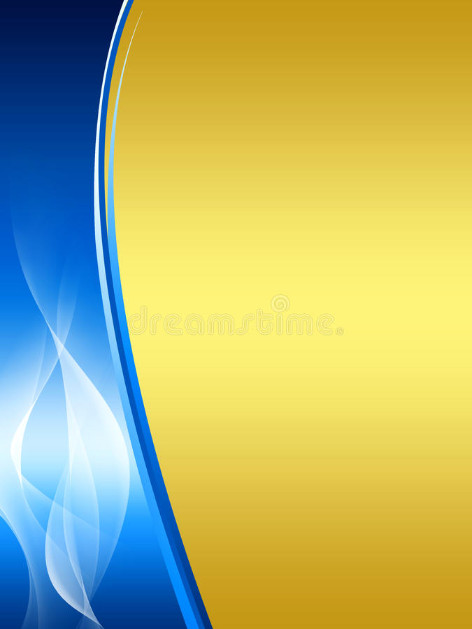 Download Blue And Gold Abstract Background Stock Illustration - Illustration of gold, fractal: 11841338