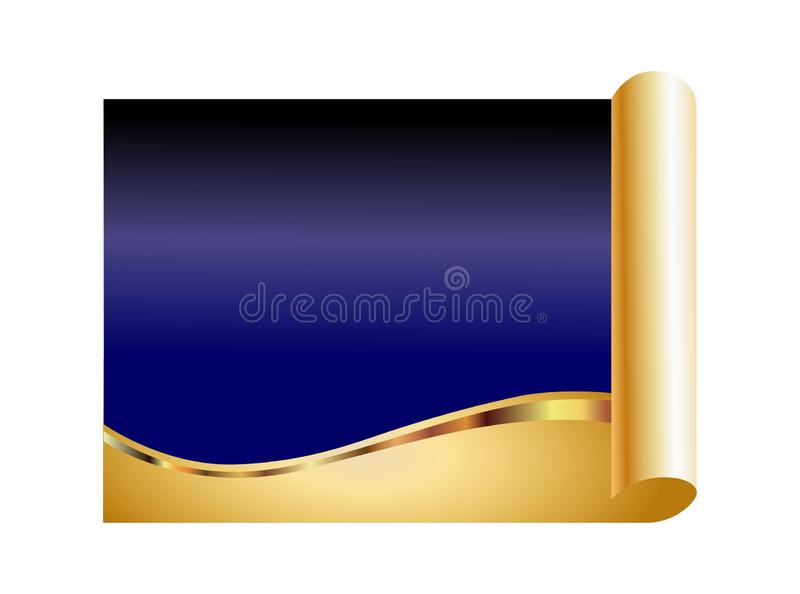 Blue and gold abstract background stock illustration