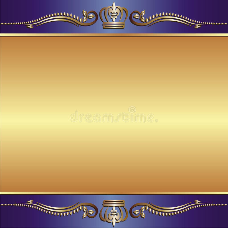 Blue Gold Background Royalty Free Stock Photos