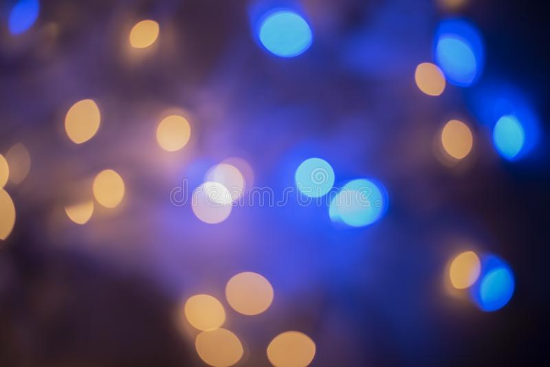 Blue and Gold Bokeh royalty free stock photos