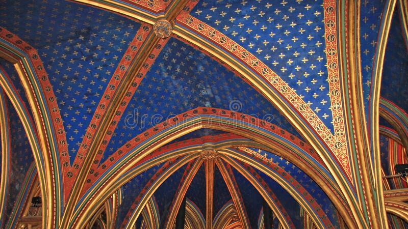 Blue And Gold Ceiling Panel Free Public Domain Cc0 Image
