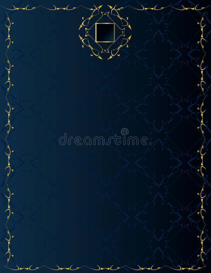 Blue gold elegant background 2 vector illustration