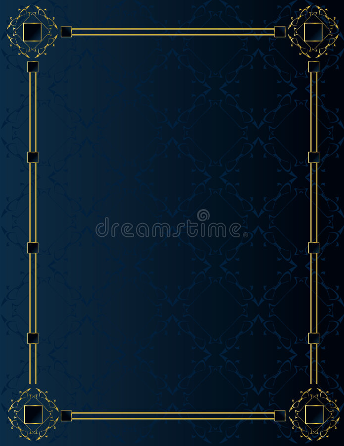 Blue gold elegant background 3 stock illustration