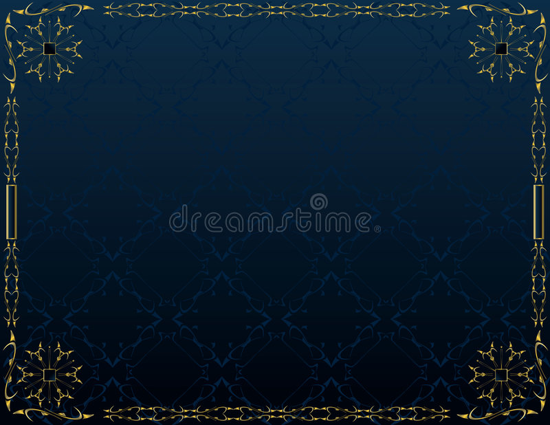 Blue gold elegant background 5 royalty free illustration