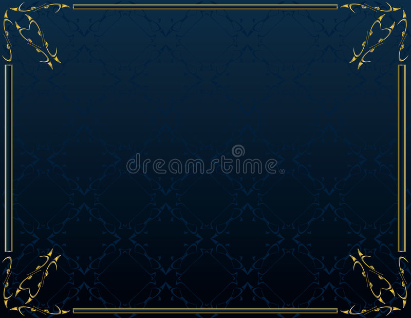 Blue gold elegant background 6 stock illustration