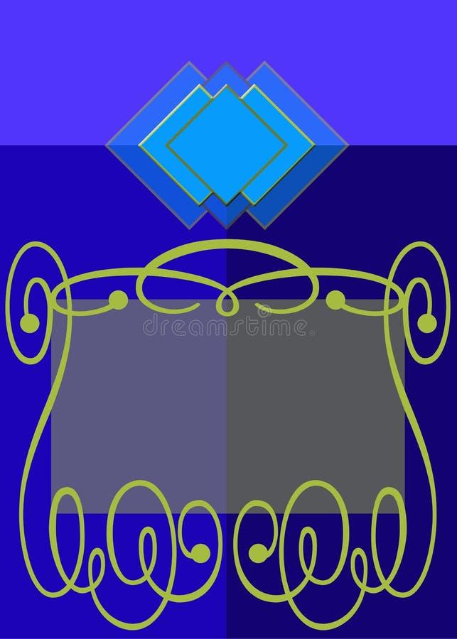 Download Blue gold label stock illustration. Image of blue, banner - 14198880