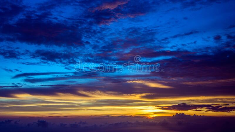 Blue And Gold Sunset Free Public Domain Cc0 Image