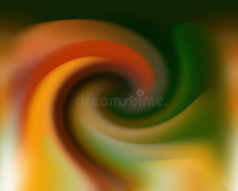 Green gold yellow circular background, colors, shades abstract graphics. Abstract background and texture. Blue gold yellow circular background, lights, lines royalty free illustration