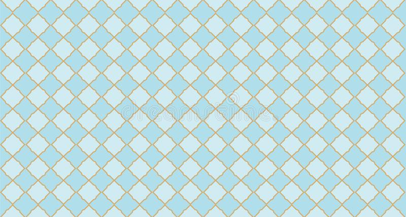 Seamless arabic geometric pattern. Can be use for royal party backdrop.boy baby shower, birthday, father`s day, wedding royalty free illustration