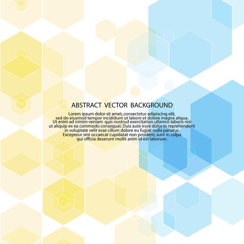 Blue and golden yellow hexagons. mosaic style. presentation layout. eps 10. Blue and golden yellow hexagons. mosaic style. presentation layout polyhedrons royalty free illustration