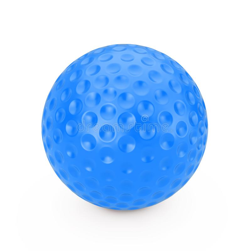 Blue Golf Ball. 3d Rendering. Blue Golf Ball on a white background 3d Rendering vector illustration