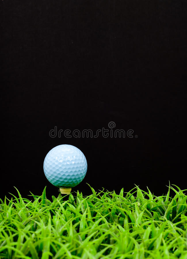 Download Blue Golf Ball on Tee stock photo. Image of equipment - 15461368