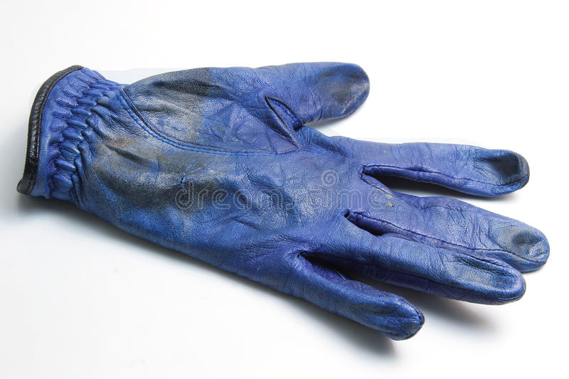 Blue golf gloves stock photos