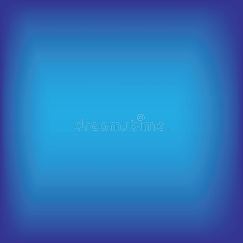 Blue gradient backgraound. Blue gradient abstract backgraound vector template, colorful, advertising, radial, frame, cover, solid, shine, gray, neutral, grey stock illustration